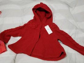 Brand new Baby Gap red knitwear