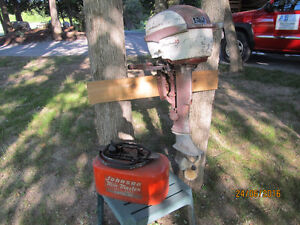 10HP JOHNSON OUTBOARD MOTOR WITH GAS TANK