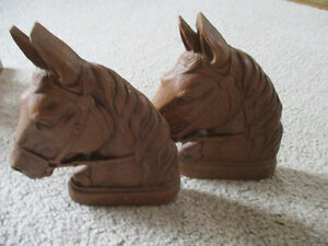 Vintage --Pair of Horse Head Bookends