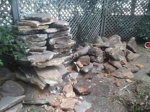 free sandstone flagging and bush rock, collect before Monday Woollahra Eastern Suburbs Preview