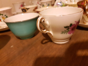 Bone China teacups and saucers 50+ of them.