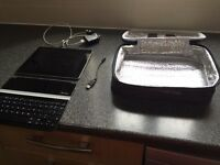 iPad 2 with Logitech Bluetooth keyboard and carry case