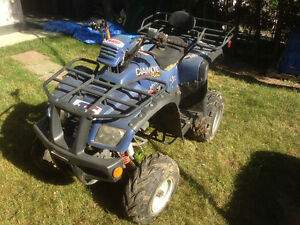Blue ATV Quad 150cc With Battery
