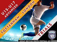 Football Trials: U15 - U17 Advanced Youth Coaching Group - Tottenham & Barking