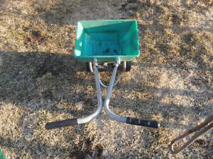 1 spreader for grass seeds works good $25  1 weed out 15$  1 ra