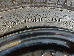 Michelin X-Ice 3 winter 195/65R15 with Ford OEM Steel Rims