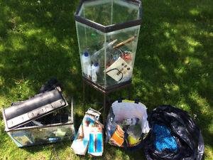 Fish tanks, equipment and accessories