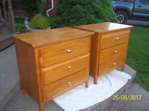 Two (2) Matching Solid Wood Dressers