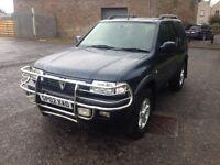 Vauxhall frontera diesel sport 2002 92k