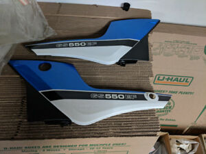 Suzuki 1985-7 GS550EF Left and Right Side Covers Blue NOS