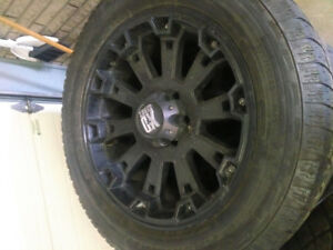 "20"" KMC Misfits Black wheels, Mint rims!"