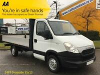 2013/ 13 Iveco Daily 2.3TD 35S13 LWB Dropside 14 ft Alloy Ingimex body 3750wb