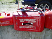 Two Metal Portable Outboard Gas Tanks for Sale
