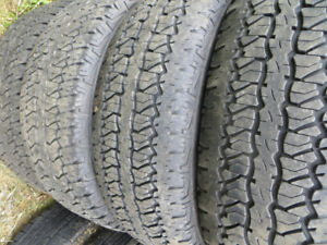4 P265/70R17 WHITE LETTERED FIRESTONE DESTINATION A/T