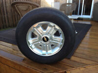 Chevy 255/70/18 6 Bolt Rims/Bridgestone Duelers