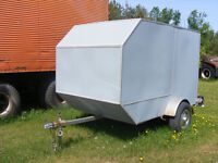 SINGLE AXLE ENCLOSED TRAILER WITH RAMP ATV