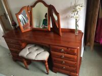 Dressing table with matching bedside cabinets
