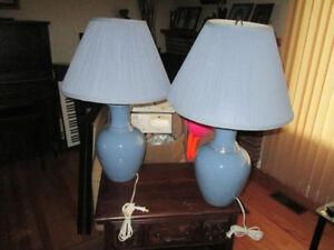 2 Blue Lamps