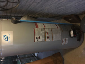 New propane hot water tank
