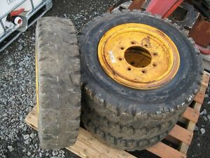 4 Tires/Wheels for Skid Steer - 7.00-15