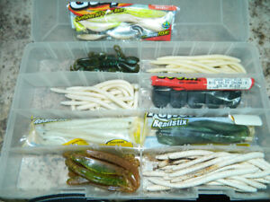 For bass new assorted plastic baits for bass