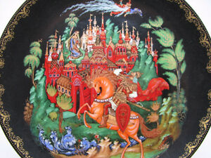 Vintage 1988 Russian Legends Fairy Tales collectors plate