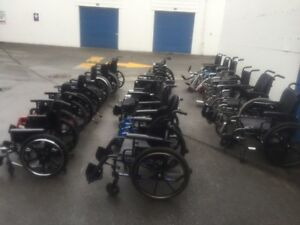 Lots of USED Manual WHEELCHAIRS Steel and Lightweight Aluminum