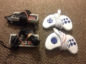 Two NES Controllers with USB adapters & Genesis-style USB
