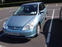 2002 Honda Civic|Petrol|1.4 Litre| MOT Feb 2017|Recently Serviced|Mileage:133500|£999| Priced to go