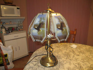 Eagle Glass Lamp, touch 3 setting