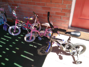 Kid's bikes and scooter