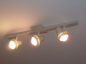 Ceiling Track Light - Project Source 3-Light 30-in Matte White