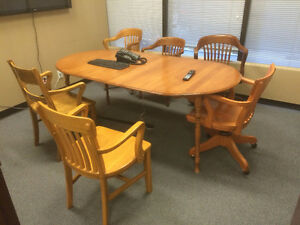 Vintage office chairs, antique high chair, rockers