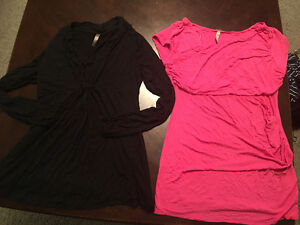Lots of maternity clothes