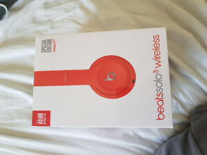 Beats Solo3 Wireless in Red. Brand new never opened. $260