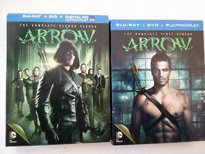 Arrow Seasons 1 and 2 Blu Ray + DVD