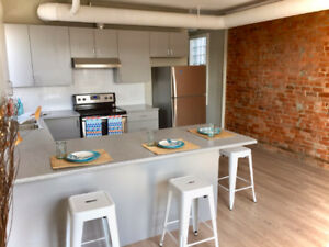 Exposed Brick Renovated 3-Bed Loft in Historic Boutique Building