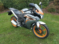 Honda CBR125 PX swap UK delivery 12 months mot