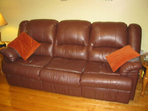 Bonded Leather Sofa and Love Seat