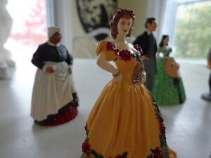 Franklin Mint Gone with the Wind Figurines with Display Cabinet West Island Greater Montréal image 5