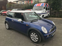 2003 MINI ONE BLUE 1.6 PETROL 90 BHP 3 DOOR MOTED DRIVE AWAY P/X TO CLEAR