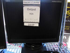 """NEC 17"""" Computer Monitor VGA"""
