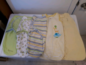 Baby sleeping bags/swaddlers for sale, excellent condition!