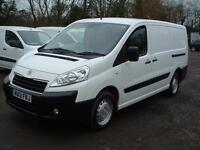 PEUGEOT EXPERT 2013 1.6HDi 90PS AIR-CON LWB TWIN SIDE DOORS ONE OWNER