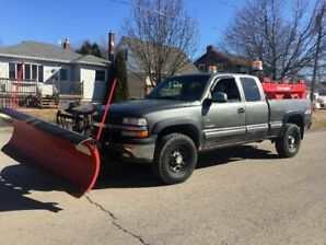 1999 CHEVY SILVERADO 2500HD 4X4 SHORT BOX with WESTERN SNOWPLOW