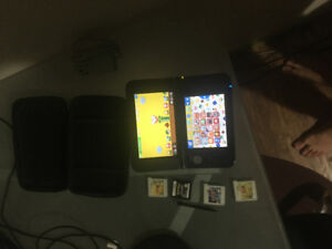 Black 3ds XL with 4 games