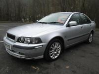 02/52 VOLVO S40 1.8i SPORT 4DR SALOON IN SILVER (spares or repair / needs MOT)