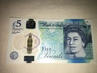 AA30 series new £5 note.