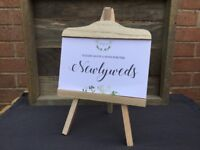 Wedding Decorations Mini Easels x 2