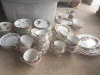 Job lot vintage china - cups, saucers, dishes, tea pots